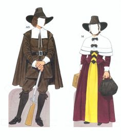 American Family Paper Dolls of the Pilgrim Period by Tom Tierney - Dover Publications, Inc.,1987: Plate 5 (of 15)