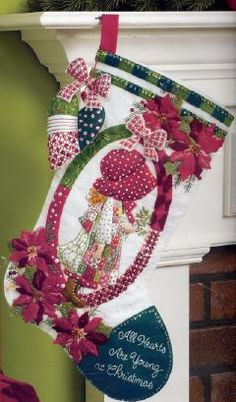 Bucilla Holly Hobbie Felt Christmas Stocking Kit