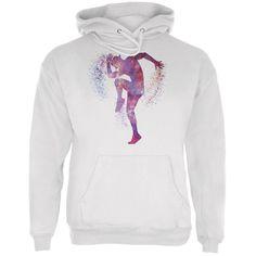 Galaxy Jazz Dancer White Adult Hoodie