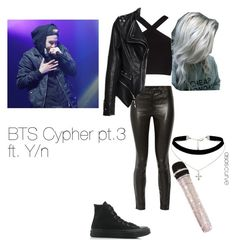 """""""BTS Imagine Outfit"""" by imaginekpopoutfits on Polyvore featuring J Brand, BCBGMAXAZRIA, Converse and ASOS Curve"""
