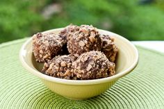 """Peanut Butter Graham Crackers Balls with Heath candy! - """"A simple fuss free 4 ingredient dessert"""""""