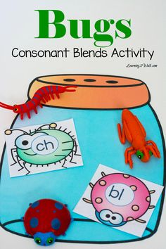 This bugs consonant blends activity was so much fun all we had to do was print cut and play! Simply read the blends and place the bugs in the jar!
