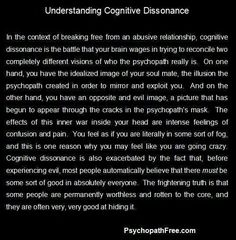 Many survivors of Narcissistic Abuse are not even aware that they are being Gaslighted and Manipulated at the time. That is where Cognitive Dissonance enters the picture. #WSLARS #PLC #UnitingCare #UnitingRecover #ParramattaMission #JeannetteDavis #MatthewTafasi #NarcissisticAbuse #PerniciousAbuse #SystematicEmotionalAbuse #DarkTetrad #DarkTriad #Narcopath #SerialAbuser #SocialisedPsychopath #SocialPredator #LauraTait #ClusterB #Enabler #Apath