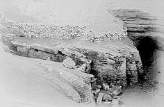 1886 - The feet of the Sphinx : Giza. Photography by Frederic Cope Whitehouse
