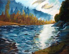 River Running at Sunset