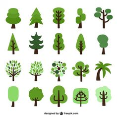 Image result for flat tree design