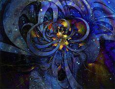 Cosmic Cluster - fractal art by Amanda Moore