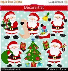 ON SALE Christmas clip art, Santa claus clip art, Digital clipart, santa digital clip art, instant download by Decorartistclipart on Etsy https://www.etsy.com/uk/listing/254770600/on-sale-christmas-clip-art-santa-claus
