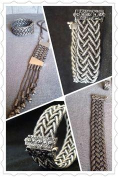 Macrame Knots, Macrame Jewelry, Wire Jewelry, Mesh Bracelet, Bracelets, Viking Knit, Macrame Tutorial, Arm Party, Jewelry Accessories