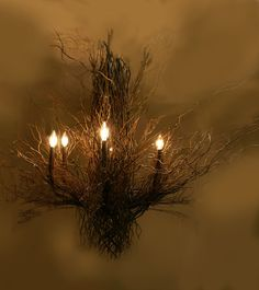 Custom Design Branch and twig Chandelier by JesseLeeDesigns