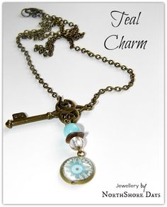 NorthShore Days.....: Teal Charm - A Key Pendant - a great inspiration.