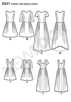 Purchase New Look 6341 Misses' Dress in Three Lengths and read its pattern reviews. Find other Dresses, sewing patterns.