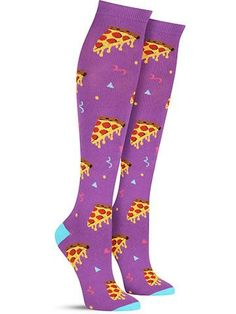How many meals a week is it acceptable to eat pizza? (Dieticians, we aren't asking you.) Maybe you've hit your personal quota, but you can still feed your soul by sporting these cool knee high pizza p