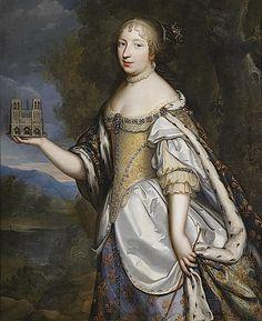 Maria Theresia von Spanien, Königin von Frankreich, als Schirmherrin der Kathedrale Notre-Dame de Paris by Charles and Henri Beaubrun (Dorotheum)
