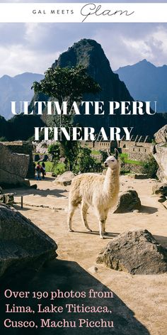 The Ultimate Peru Itinerary with over 190 photos from Lima, Lake Titicaca, Cusco and Machu Picchu. Pictures of Llamas, Alpacas, Uros Islands, Taquile Island, Pisco Sour, Hiking, Hiram Bingham Train, San Pedro Market, Sunsets, Sunrises & More.