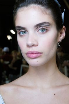 The vibe: Graphic  Get the look: All it takes is a precise, straight application of eyeliner at the crease of the eyes for a simple accent.