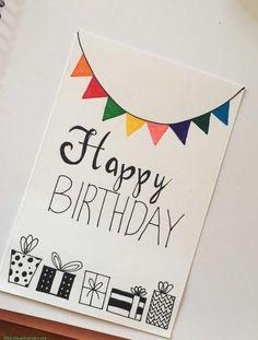 Ideas For Homemade Birthday Cards Birthday Card Design For Mother Lovely 20 Diy Birthday Card Ideas. Ideas For Homemade Birthday Cards Beautiful Handm. Creative Birthday Cards, Simple Birthday Cards, Homemade Birthday Cards, Birthday Cards For Boyfriend, Birthday Cards For Friends, Bday Cards, Funny Birthday Cards, Card Birthday, Birthday Ideas