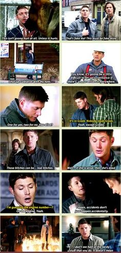 Dean showcasing the family Winchester Logic