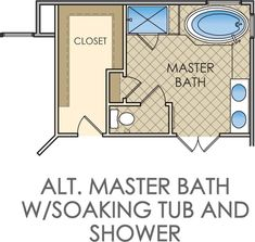 small master bathroom floor plans kingsmill - Master Bathroom Design Plans
