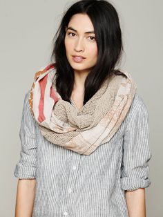 American Flag Infinity Scarf - Taupe