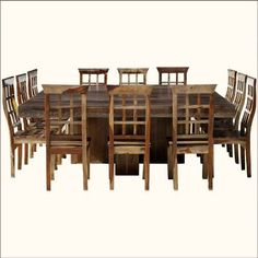 square dining table for 12 - dislike chairs but like idea of square dining table vs. & Dallas Ranch 13pc Square Pedestal Large Dining Table u0026 Chair Set ...