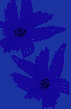 blue.quenalbertini: Blue flower art