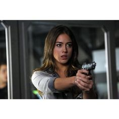 Chloe Bennet ❤ liked on Polyvore featuring chloe bennet and shield
