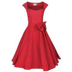 1950s Pin Up Full Circle Dress - Polyvore