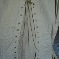 Reverse view of court waistcoat, 1770-80, Snowshill Costume Collection