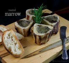 Entertaining on a budget?  Try these Roasted Marrow Bones - so rich and creamy!