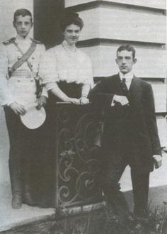 Maria Pavlovna, The Younger, with her brother Dmitri and fiance Wilhelm