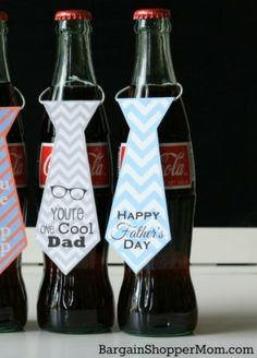 Check out these cool, free printables for Father's Day gift tags!