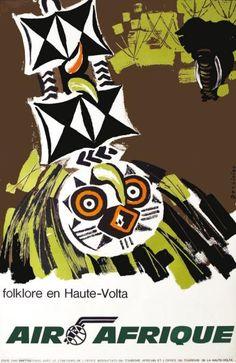 Air Afrique - Folklore en Haute-Volta - (Dessirier) -