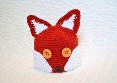Crochet Fox Beanie Pattern by StitchAwayCrochet on Etsy