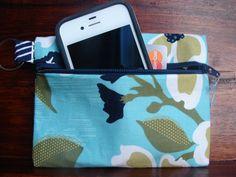 Keychain Wallet in Modern Meadow by stitch248 on Etsy, $12.00