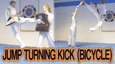 Taekwondo Jump Turning Kick/Roundhouse Kick (Bicycle Motion) | GNT - YouTube
