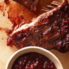 Huckleberry BBQ Sauce by Sunset Magazine. This recipe, from chef David Kreifels of Laurelhurst Market in Portland, goes with Smoked Ribs with Huckleberry BBQ Sauce.