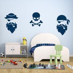 Adesivo Murale Pirati e Teschi