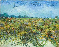Vincent Van Gogh - The Green vineyard, 1888