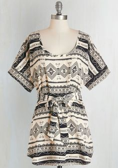 Medium Format Memory Tunic in Southwestern From the Plus Size Fashion Community at www.VintageandCurvy.com