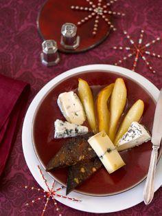 Würzbirnenspalten mit Käse und Früchtebrot (Heft: Dezember 2013) Foto © Maike Jessen für ARD Buffet Magazin
