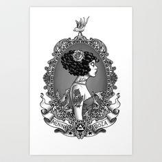 Menina Roza Art Print by Rudy Faber - $20.00