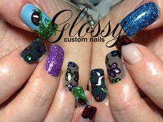 Press on nails available for purchase along with nail care products. Nail Services, Press On Nails, Spring Nails, Nail Care, Glitter, Flowers, Beauty, Tip Nails, Cosmetology