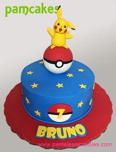 Pokemon Cupcakes, Pokemon Birthday Cake, Pikachu Cake, First Birthday Party Themes, Boy Birthday, Pokemon Party Bags, Just Cakes, Monster Party, Cakes For Boys