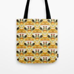 Roosters all around Tote Bag by bozenawojtaszek Hen House, Roosters, Reusable Tote Bags, Shoulder Bag, Stuff To Buy, Products, Chicken Pen, Pallet Coop, Chicken Houses