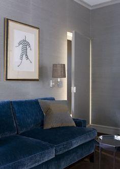blue sofa - Shostak and Company