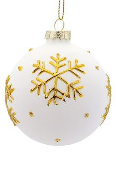 Melrose Gifts Dot & Snowflake Ornament available at #Nordstrom