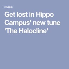 Get lost in Hippo Campus' new tune 'The Halocline'