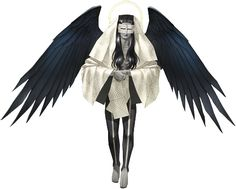 """Mastema, known as Mansemat (マンセマット, Mansematto) in the Japanese version of Shin Megami Tensei: Strange Journey. """"The angel who persecutes evil in Hebrew folklore. He carries out punishments for God.     He tempts humans and tests their faith. He asked God to permit him to have demons as his subordinates. In the Zadokite Fragments and the Dead Sea Scrolls, he is the angel of disaster, the father of all evil, and a flatterer of God.""""  —Shin Megami Tensei: Strange Journey Compendium"""
