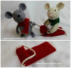Amigurumi To Go: Crochet Sled For Your Amigurumi - free crochet pattern.